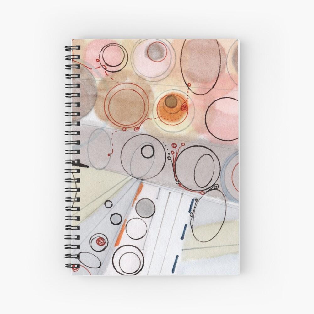 Ultra Light - ink drawing Spiral Notebook