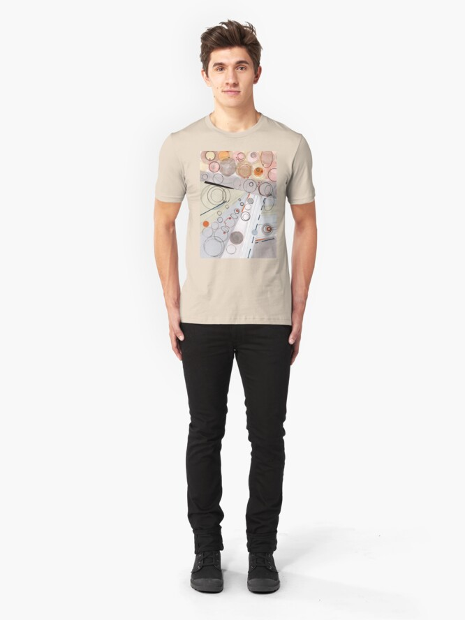 Alternate view of Ultra Light - ink drawing Slim Fit T-Shirt