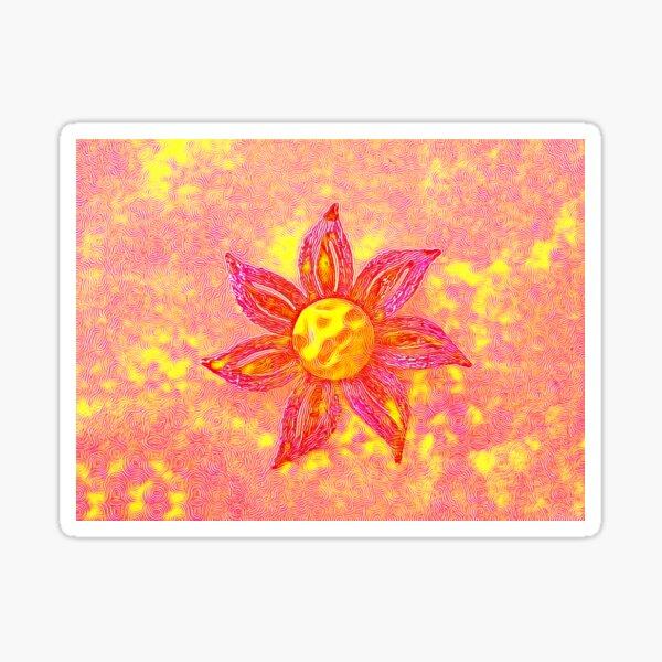 Pink Sunshine Flower  Sticker