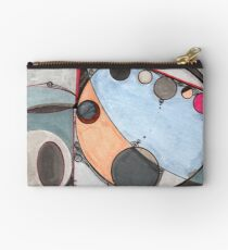 Slits and Mirrors, Ink drawing Zipper Pouch