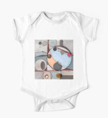 Slits and Mirrors, Ink drawing Short Sleeve Baby One-Piece