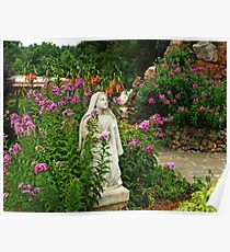 Mary in her Garden Poster