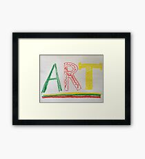 crayon art Framed Print