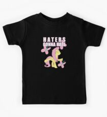 Fluttershy and butterflies Kids Tee