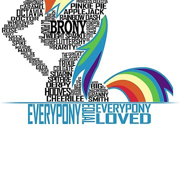 Brony Typography (white) by NorthernDash