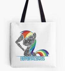 Brony Typography (white) Tote Bag