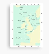 Shipping Forecast- Seaside colours Canvas Print