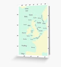 Shipping Forecast- Seaside colours Greeting Card