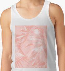 Tropical Flowers Jungle Print Palm Leaves Banana Hawaiian Monstera Leaf Rose Pink Blush Coral Tank Top