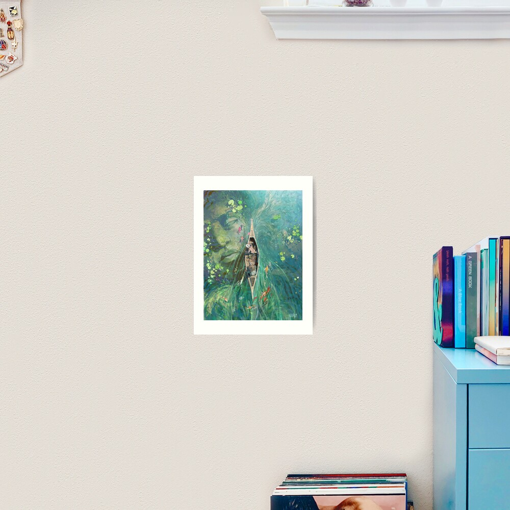 Beneath the Lillies  Art Print
