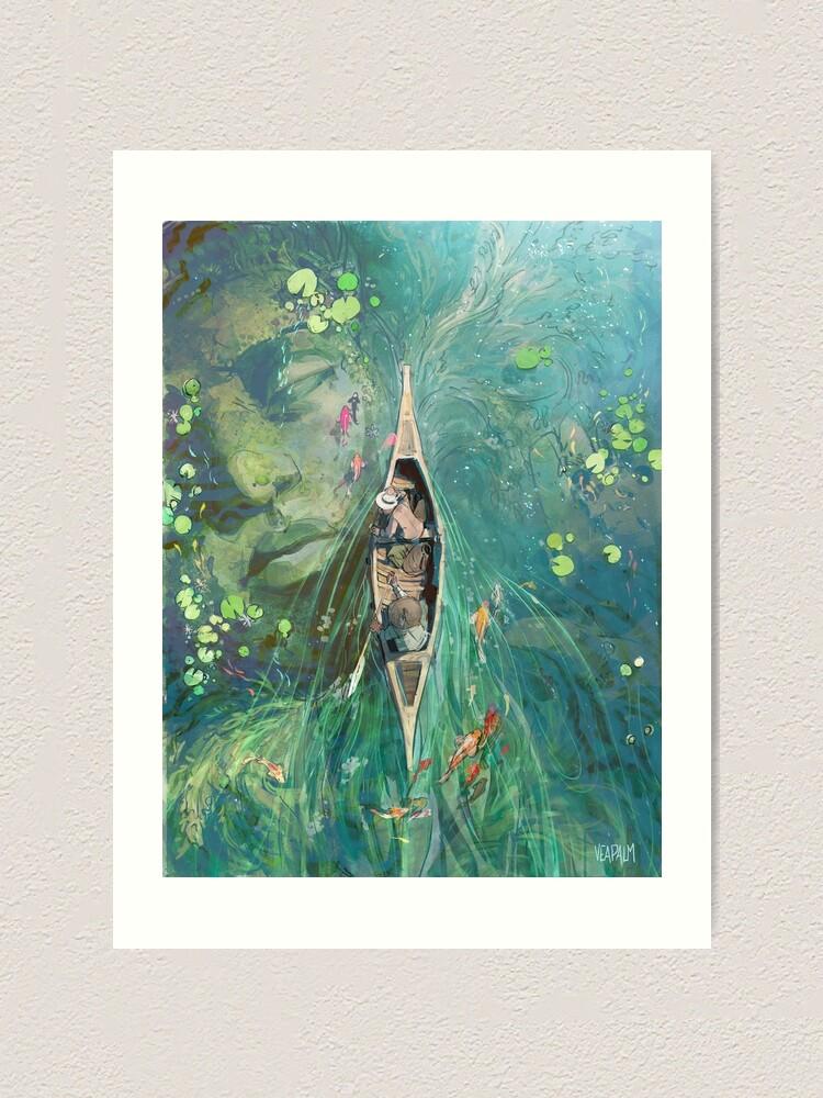 Alternate view of Beneath the Lillies  Art Print