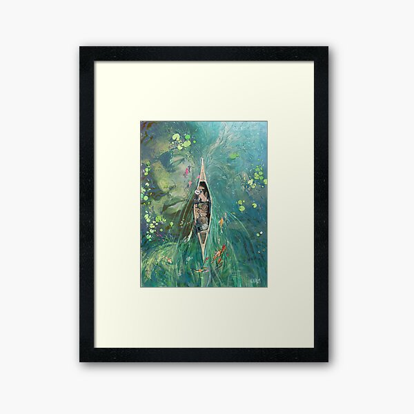 Beneath the Lillies  Framed Art Print