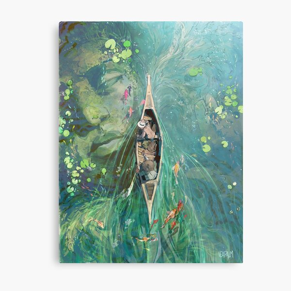 Beneath the Lillies  Metal Print