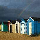 Royal Huts with Rainbow Southwold Suffolk by Kawka