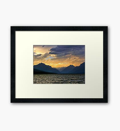 Lake MacDonald Evening Framed Print
