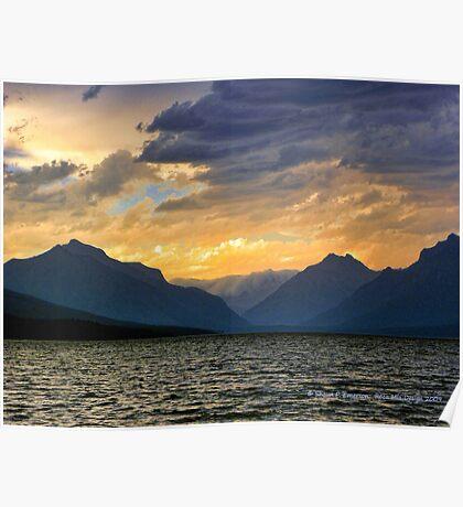 Lake MacDonald Evening Poster