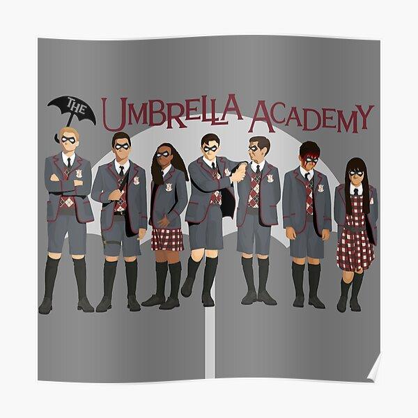 El grupo de la Umbrella Academy Póster