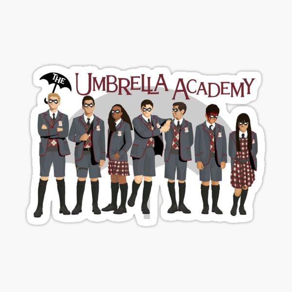El grupo de la Umbrella Academy Pegatina