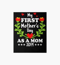 Mommys First Mothers Day or 1st Mother's day Pregnancy Announcement Gift Art Board