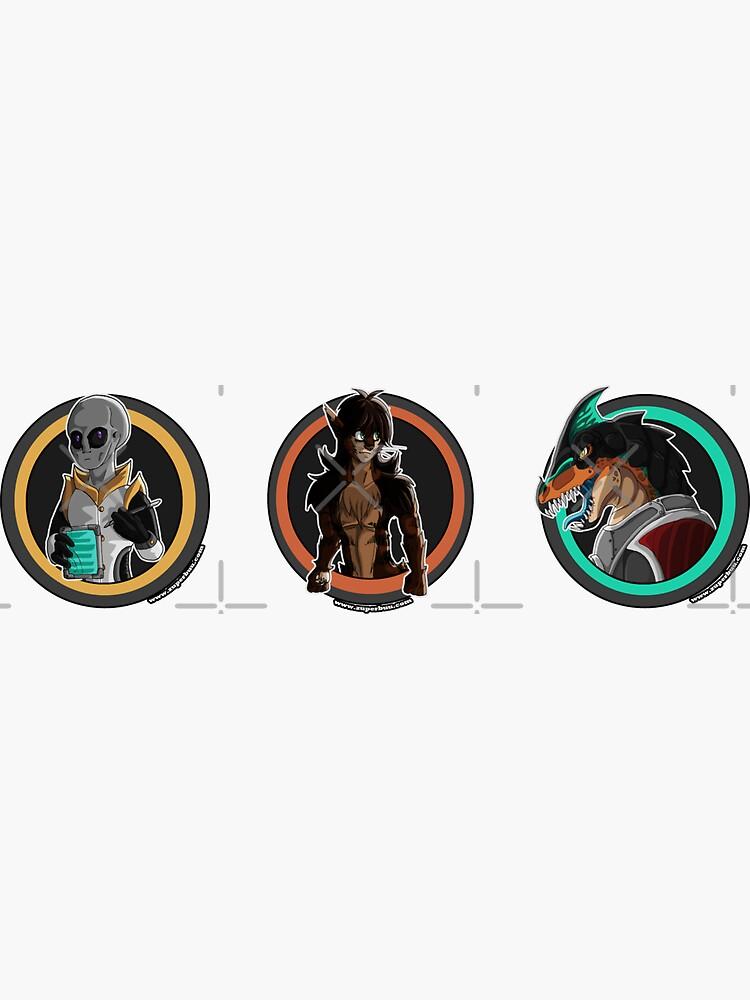 Jinimaru Folklore Volume 1: Origins Stickers by zuperbuuworks
