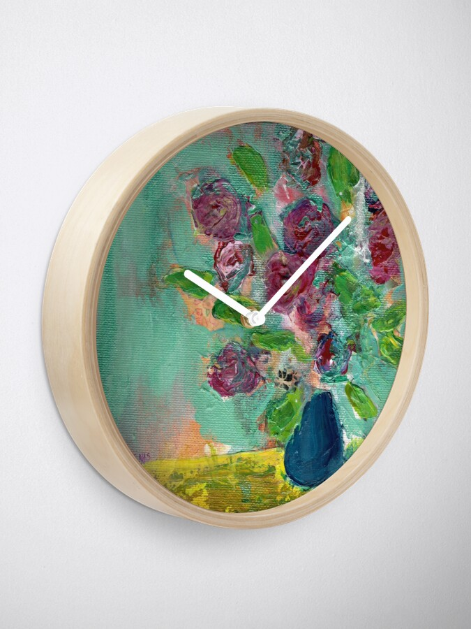 Alternate view of Spring Bouquet 1 Clock