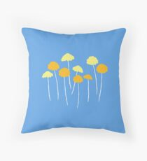 Blue and Yellow Floral Pillows Throw Pillow