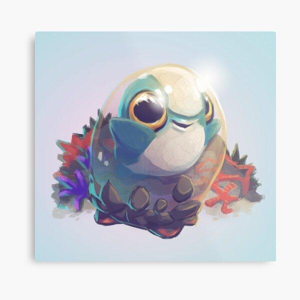 Cuddlefish Baby - Subnautica Metal Print