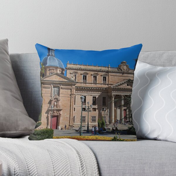 Spain. Salamanca. Church & University. Throw Pillow
