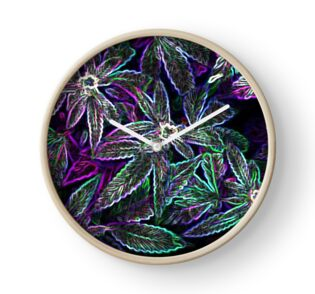 Psychedelic Weed Cannabis Glowing Weed Pot Leaves