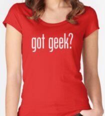 got geek? Women's Fitted Scoop T-Shirt