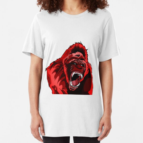Red King Kong Gorilla Slim Fit T-Shirt
