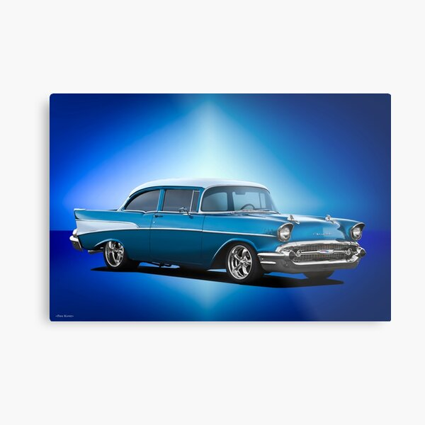 1957 Chevrolet 210 Post Sedan Metal Print
