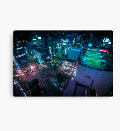 Shibuya crossing from above Canvas Print