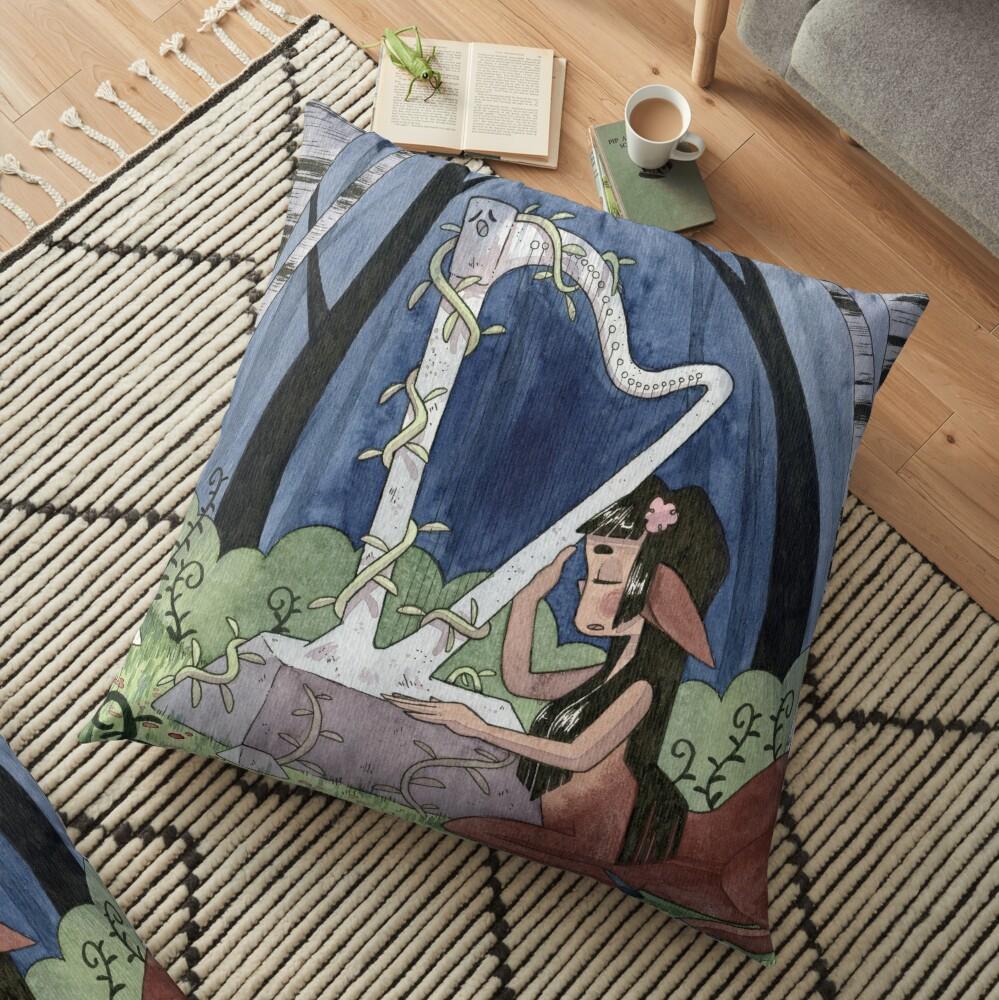 The Talking Harp Floor Pillow
