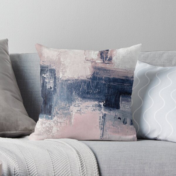 Pink and navy 2 Throw Pillow