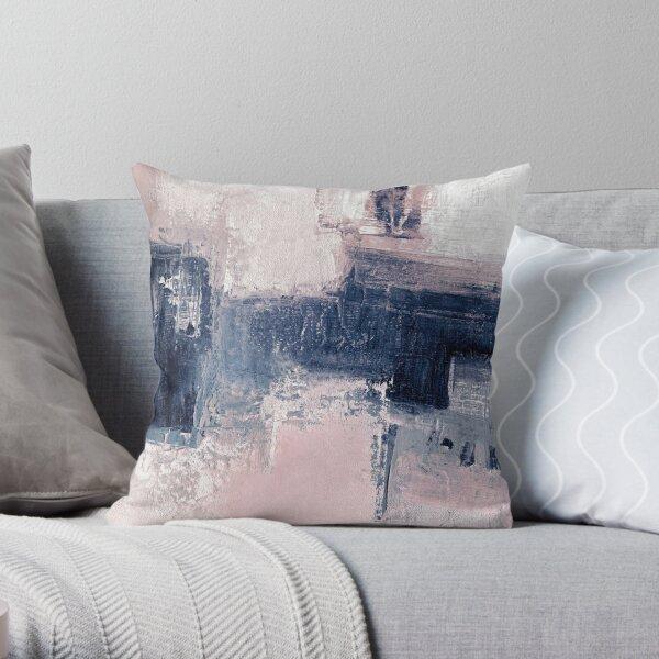 Pink and navy 2 Throw Pillow
