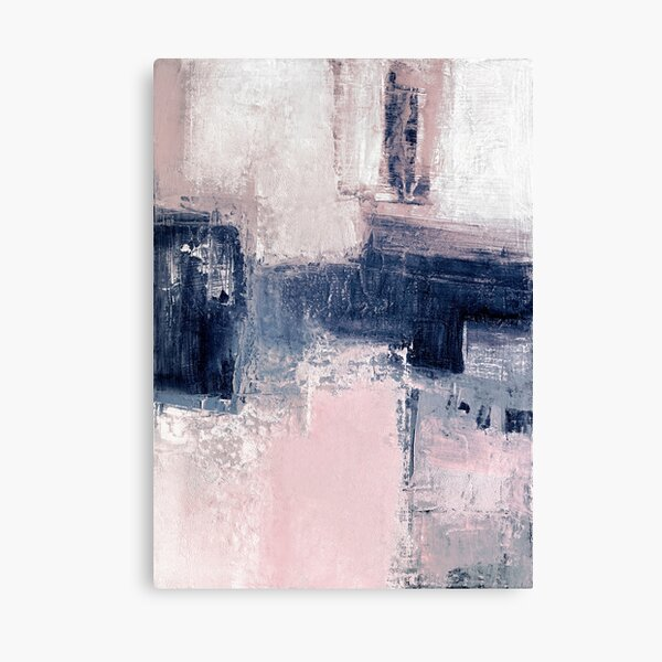Pink and navy 2 Canvas Print