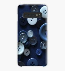 Midnight Blue Buttons Case/Skin for Samsung Galaxy