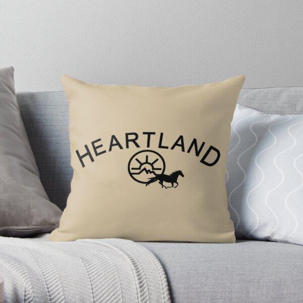 Heartland Black Throw Pillow