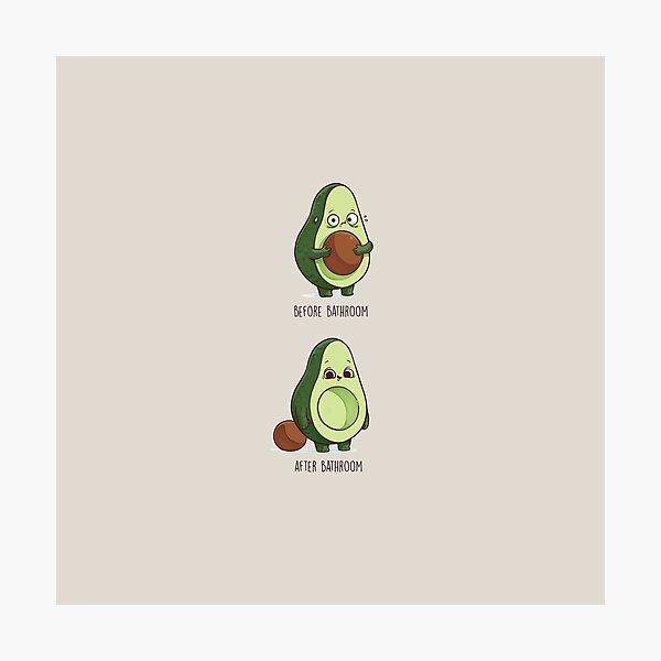 Avocado Bathroom Time Photographic Print