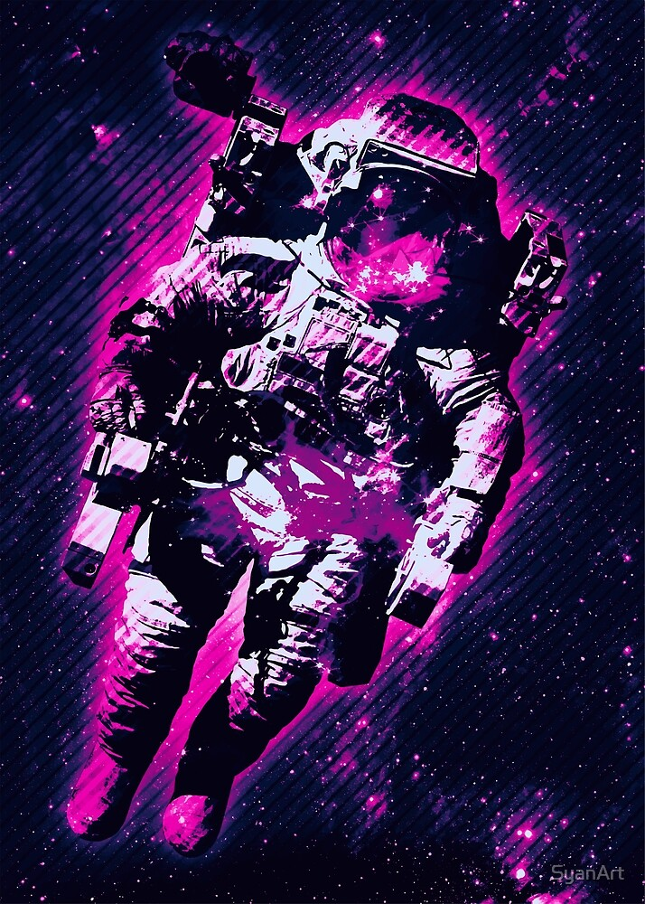 Purple Space Astronaut Abstract By Syanart Redbubble