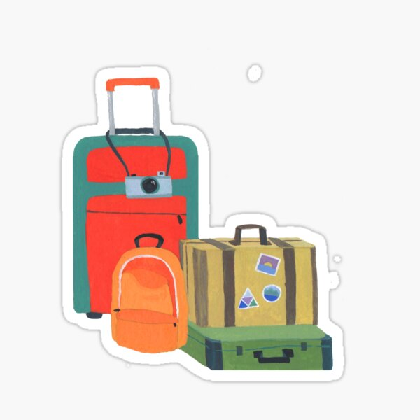 Desire to travel without having to pack Sticker