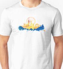 London skyline map city blue Unisex T-Shirt