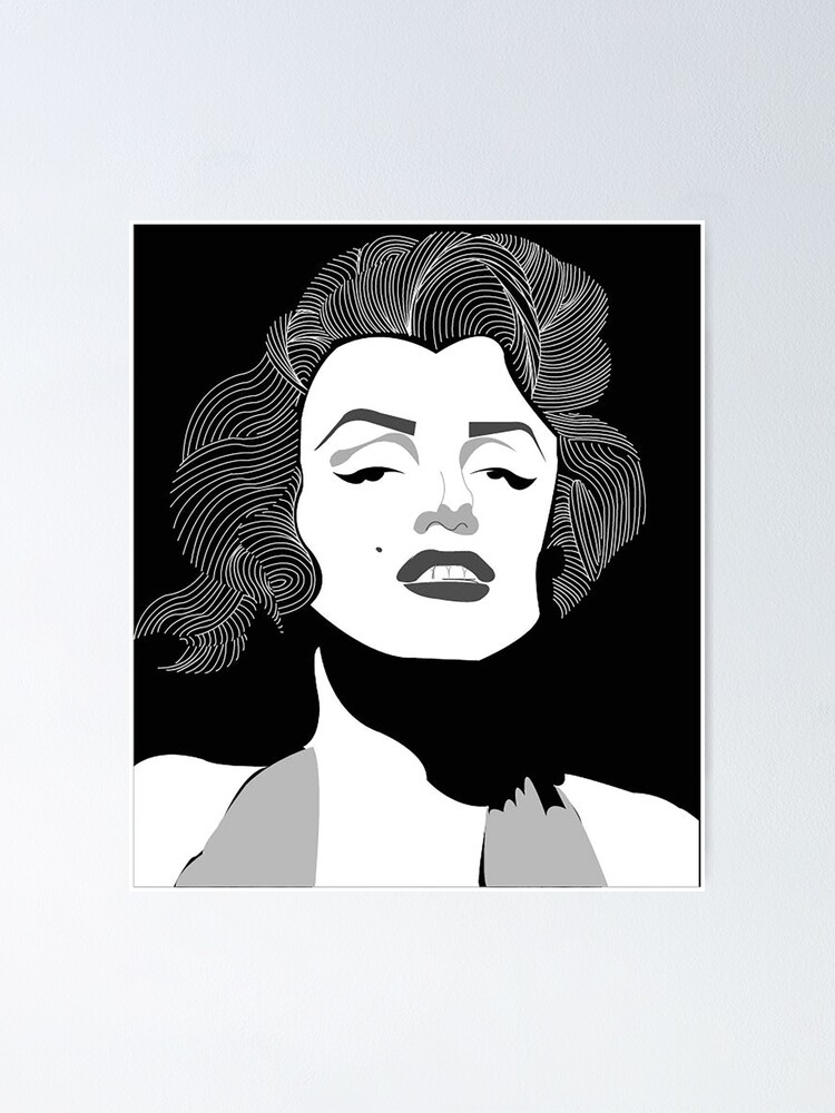 marilyn monroe vector poster by aptphotography redbubble redbubble