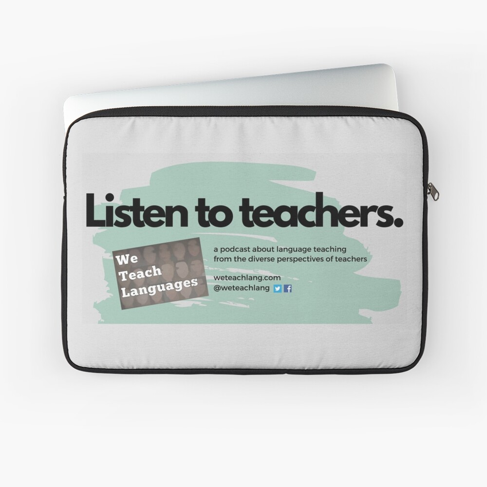 Listen to Teachers grey background Laptop Sleeve