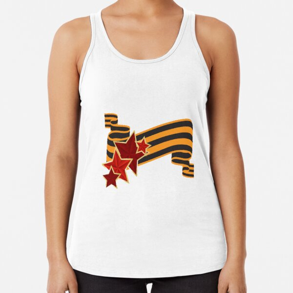 9 Мая: Victory Day is a holiday that commemorates the victory of the Soviet Union over Nazi Germany in the Great Patriotic War Racerback Tank Top