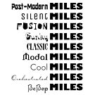 Miles Davis Styles BeBop Cool Classic Fusion Jazz (dark design) by bauwau-design