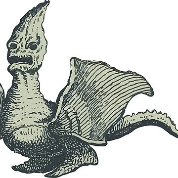 Vintage Imaginary Creature from 1776 by cartoon