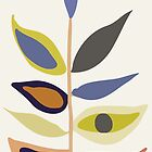 Grüne blaue graue abstrakte Anlage von Vicky Brago-Mitchell®