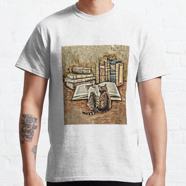 Kittens Reading a Book Classic T-Shirt